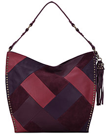 The Sak Silverlake Patchwork Leather Hobo, Created for Macy's