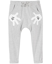 Disney Little Girls Mickey Hands Jogger Pants
