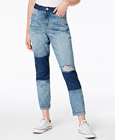 Vintage America Shadow Cotton Cuffed Jeans