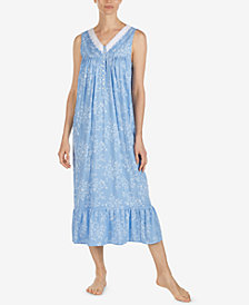 Eileen West Woven Print Ballet Nightgown