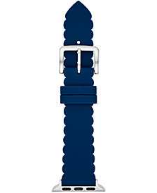 kate spade new york Women's Blue Silicone Scallop Apple Watch® Strap