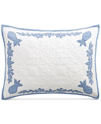 Aloha Blue Cotton Reversible Standard Sham, Created for Macy's