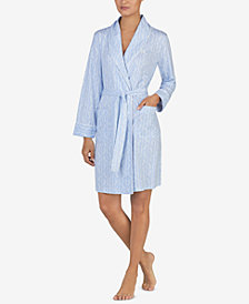 Lauren Ralph Lauren Printed Short Wrap Robe