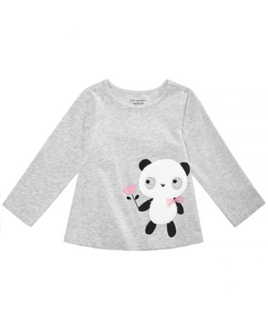 First Impressions Toddler Girls Panda Graphic Cotton Shirt Created for Macys