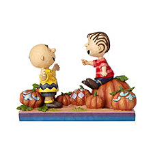 Enesco Jim Shore Harvest Charlie Brown and Linus Pumpkin Patch