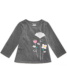 First Impressions Baby Girls Tulle Flower Graphic Shirt, Created for Macy's