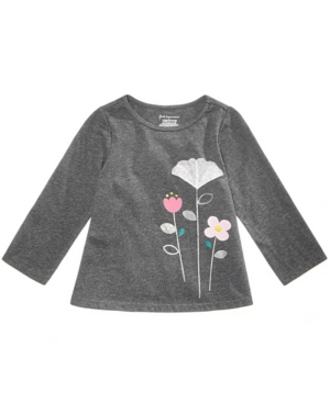 First Impressions Toddler Girls Tulle Flower Graphic Shirt Created for Macys