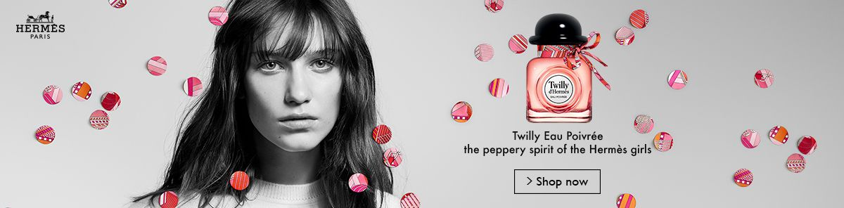 Hermes, Twilly Eau Poivree the peppery spirit of the Hermes girls, Shop Now