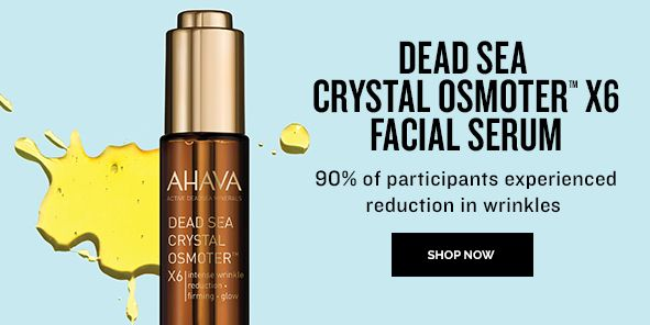 Dead Sea Crystal Osmoter X6 Facial Serum, 90 percent of participants experienced reduction in wrinkles, Shop Now