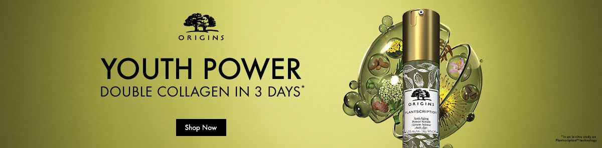 Origins Youth Power, Double Collagen in 3 Days, Shop Now