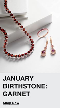 January Birthstone, Garnet, Shop Now