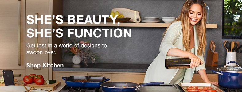 She's Beauty, She's Function, Get lost in a world of deigns to swoon over, Shop Kitchen