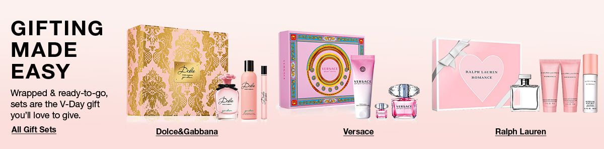 Gifting Made Easy, All Gift Sets, Dolce and Gabbana, Versace, Ralph Lauren