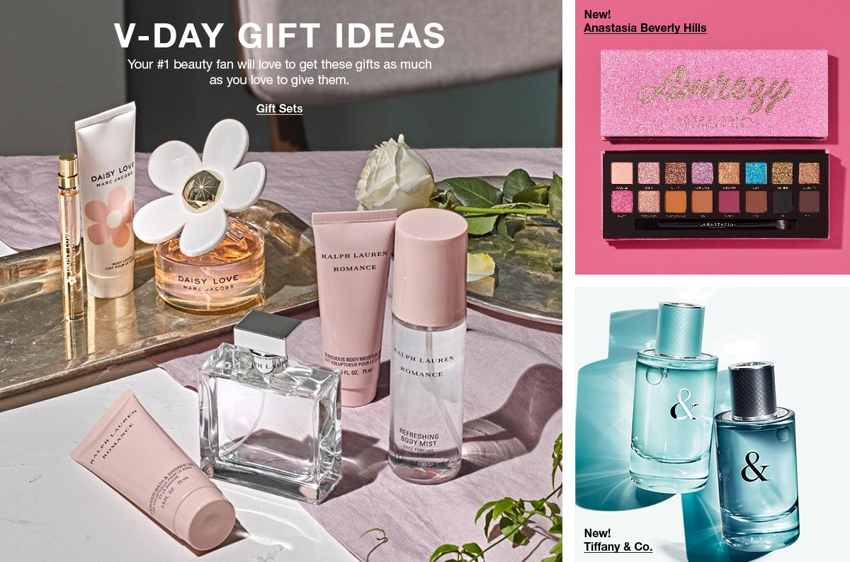 V-Day Gift Ideas, Your #1 beauty fan will love to get these gifts as much as you love to give them, Gift Sets, New Anastasia Beverly Hills, New! Tiffany and Co