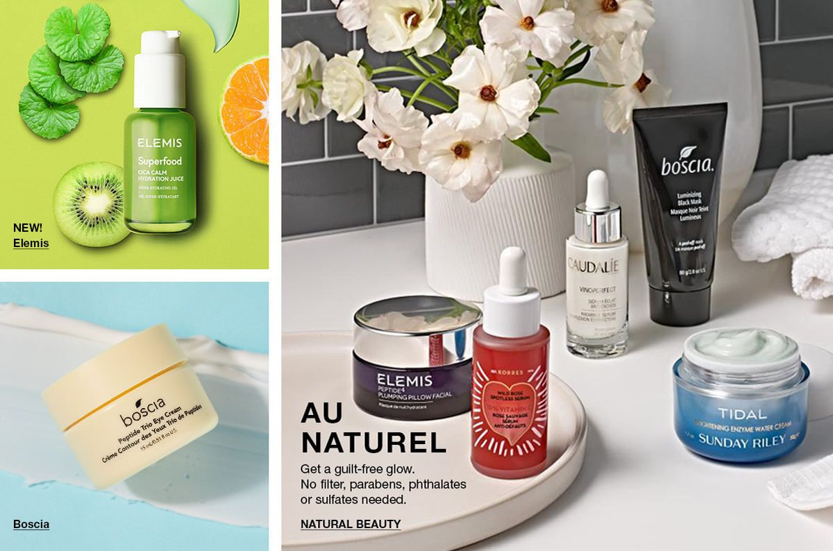 New! Elemis, Au, Naturel, Natural Beauty, Boscia