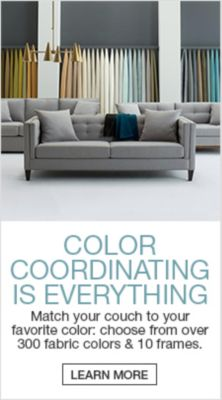 Color Coordinating Is Everything, Match Your Couch To Your Favorite Color:  Choose From Over