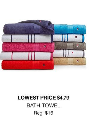 Get Bath towels lowest price $4.79!