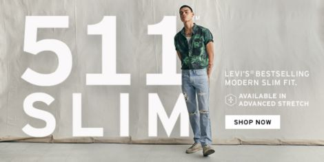8dfc599e Levi's Bestselling Modern Slim Fit, Available in Advanced Stretch, Shop Now