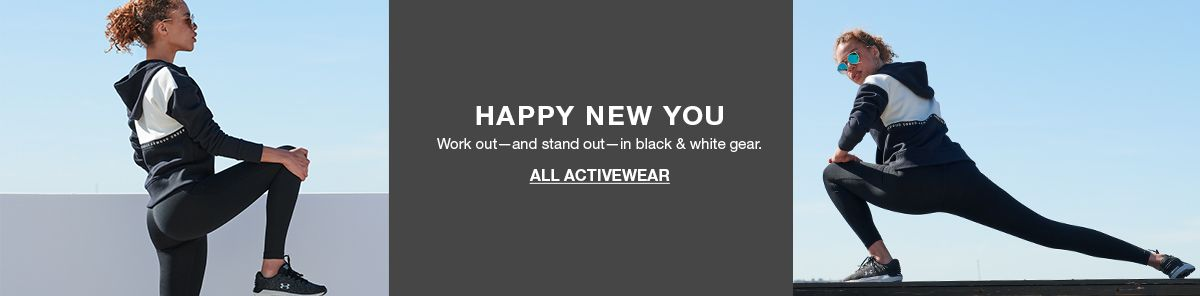 Happy New You, Work out-and stand out-in black and white gear, All Activewear