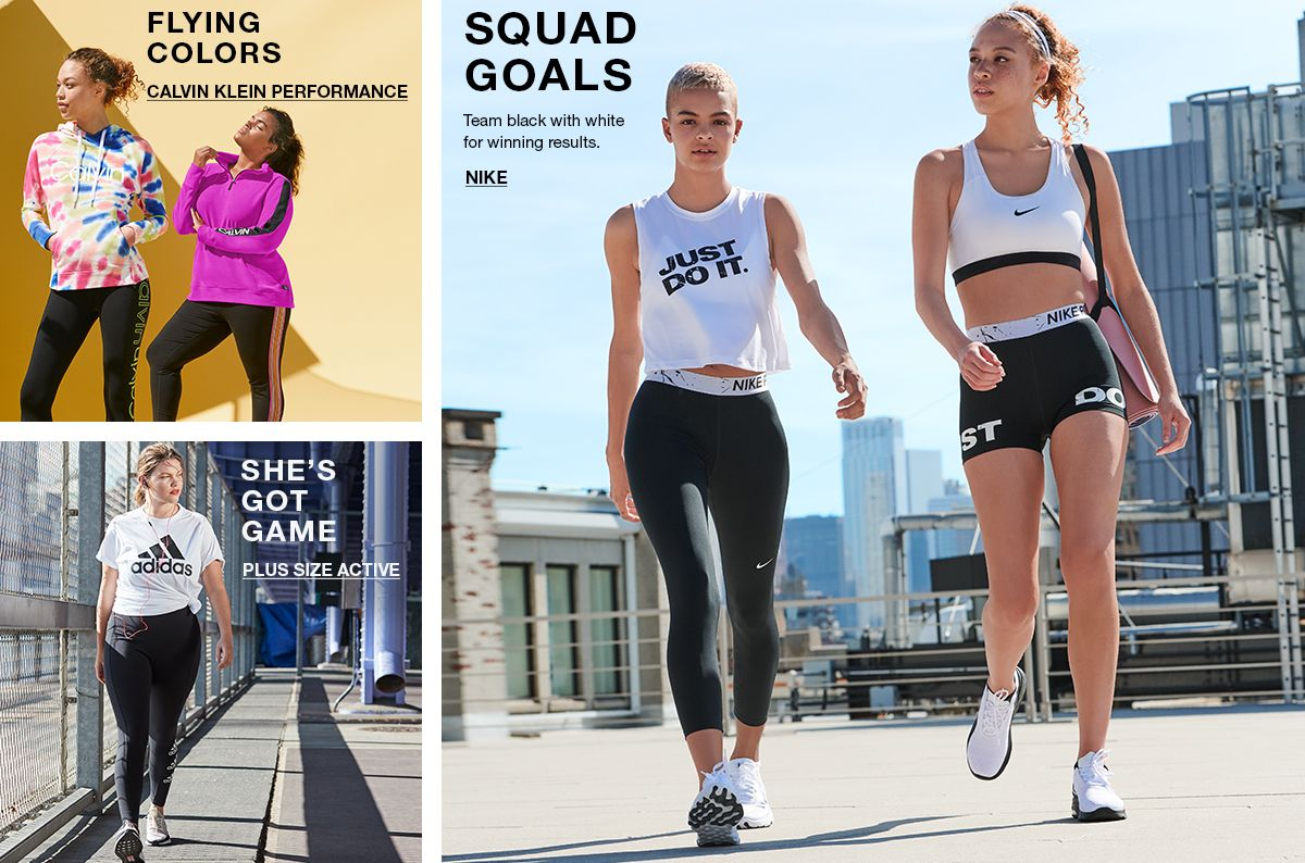 Flying Colors, Calvin Klein Performance, She's Got Game, Plus Size Active, Squad Goals, Nike