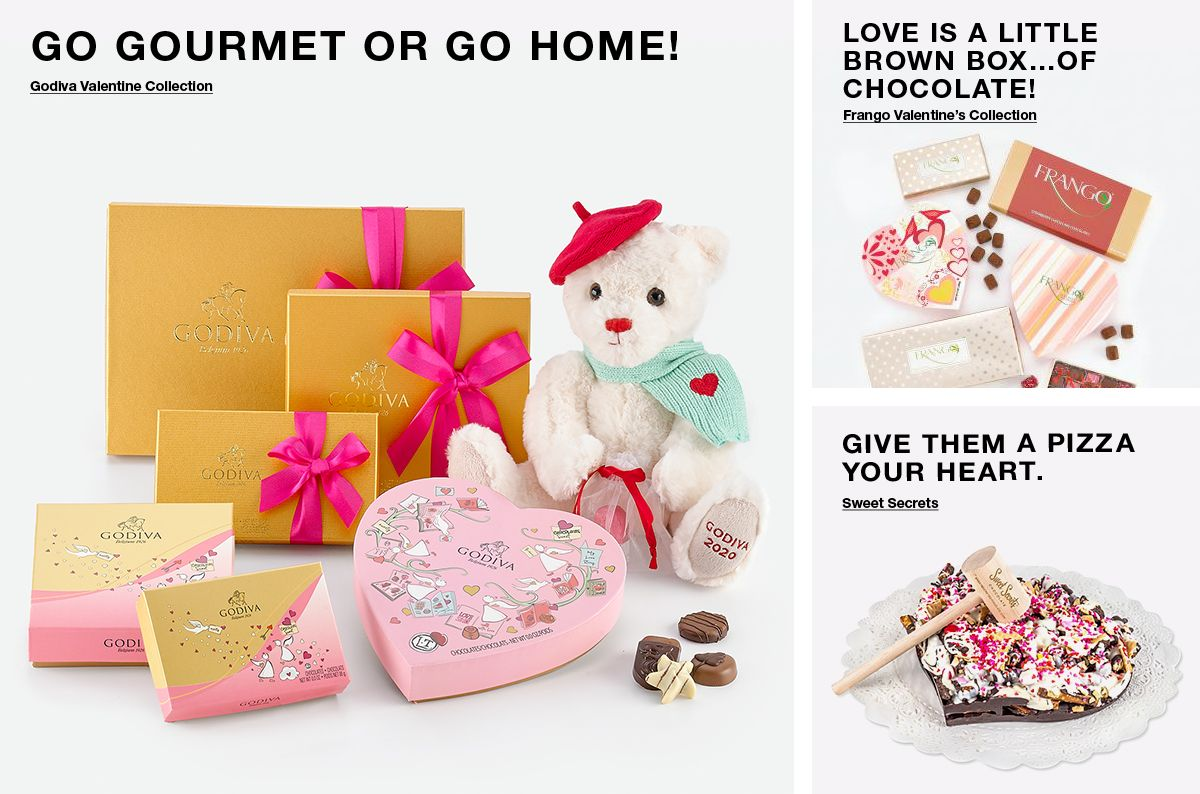 Go Gourmet or go Home! Love is a Little Brown Box…of Chocolate! Give Them a Pizza Your Heart