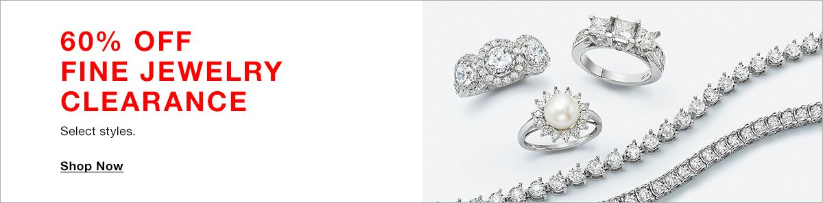60% Off, Fine Jewelry Clearance, Select styles, Shop Now