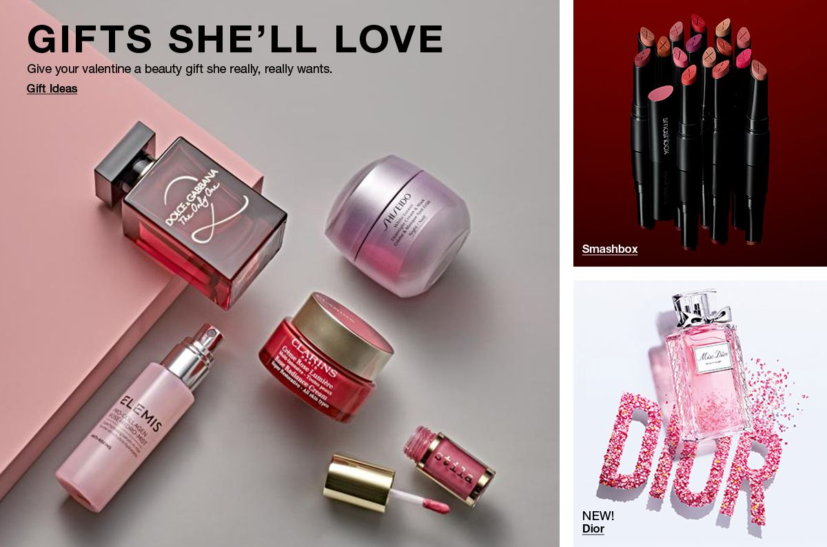Gifts She'll Love, Give your valentine a beauty gift she really, really wants, Gift Ideas, Smashbox, New! Dior