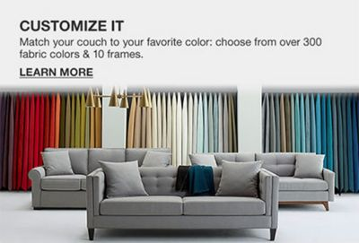 Customize It, Match Your Couch To Your Favorite Color: Choose From Over 300  Fabric. Small Space Furniture, Shop Now