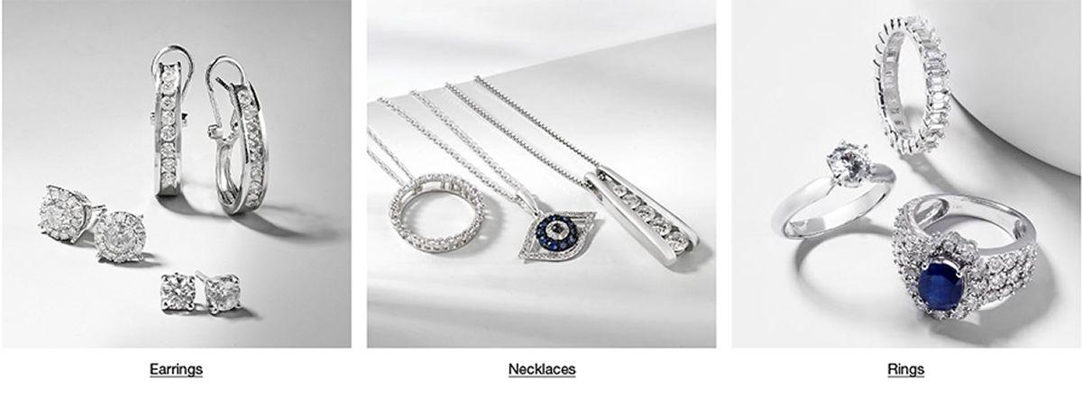 Earrings, Necklaces, Rings