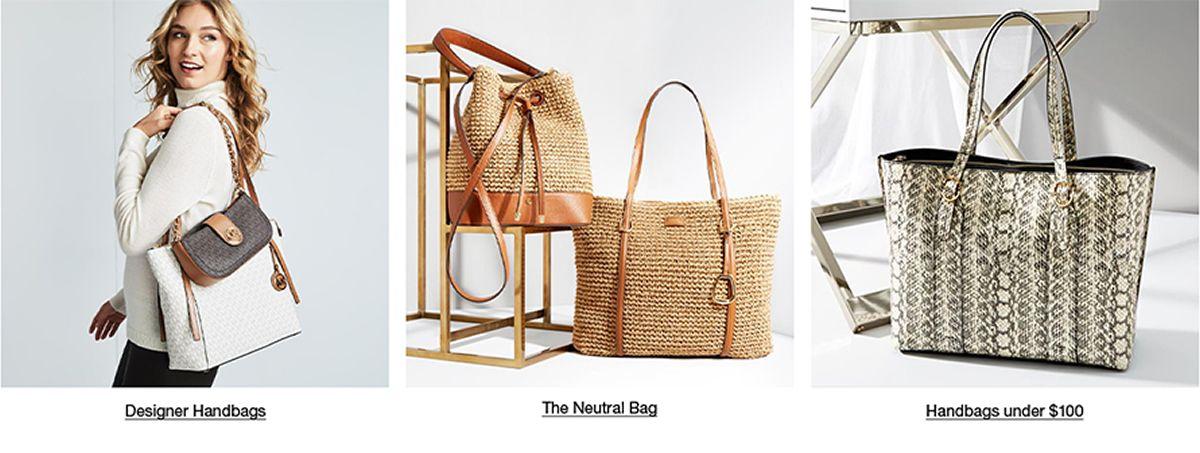 Designer Handbags, The Neutral Bag, Handbags Under $100