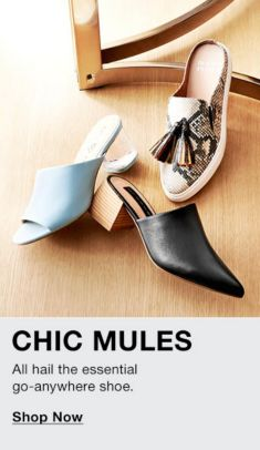 Chic Mules, Shop Now