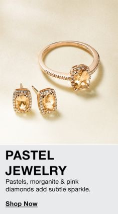 Pastel Jewelry, Pastels, morganite and pink diamond add subtle sparks, Shop Now