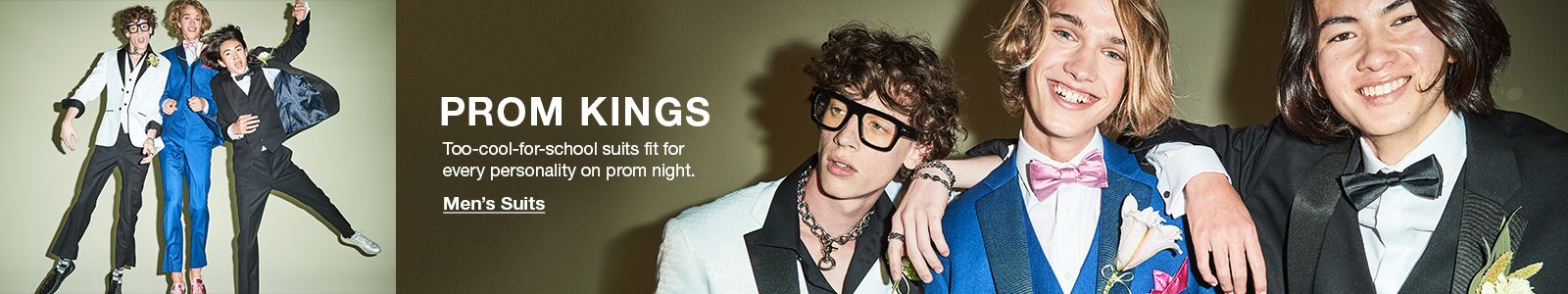 Prom Kings, Too-cool-for-school suits fit for every personality on prom night, Men's Suits