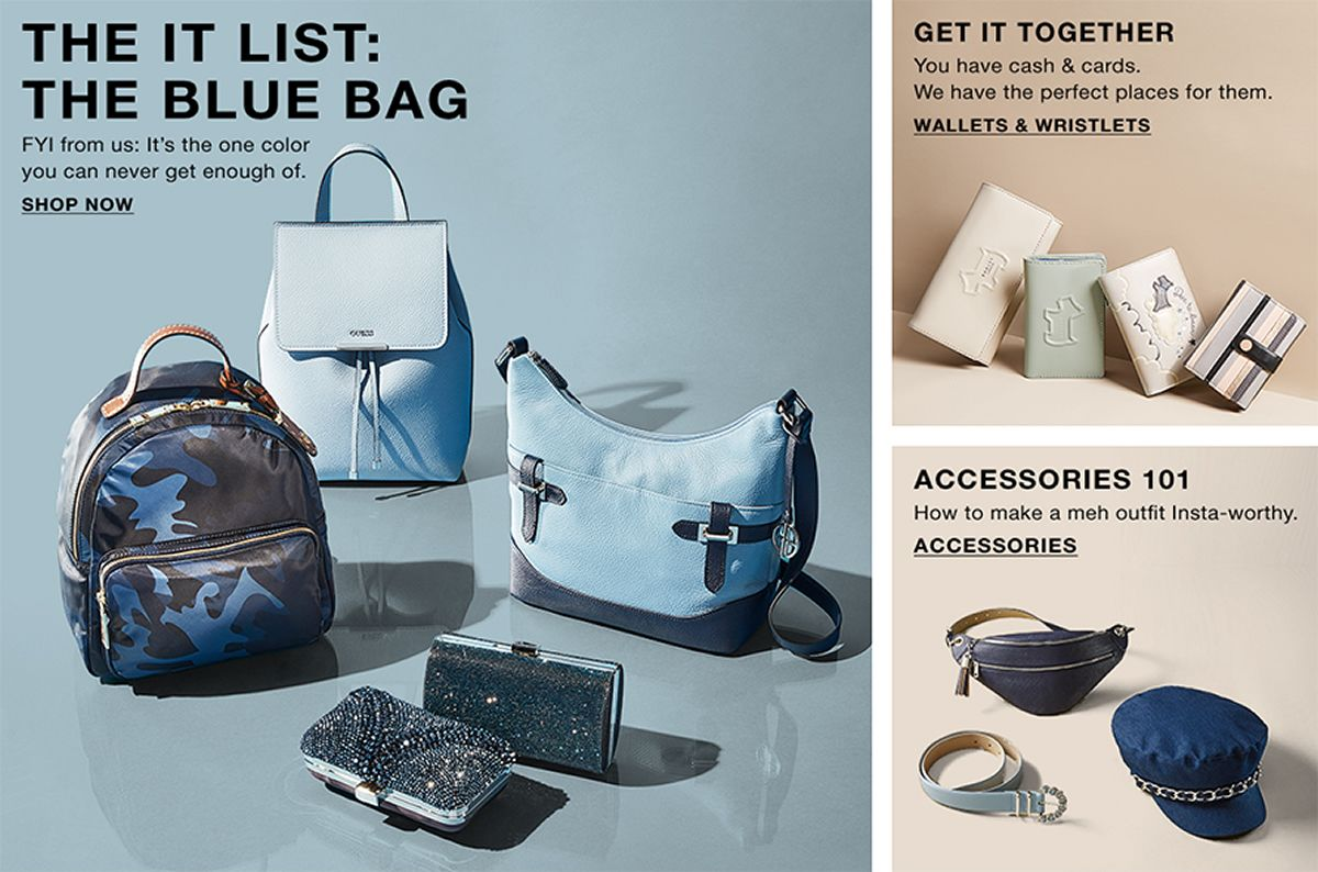 The it List The Blue Bag, Shop Now, Bye, Get it Together Wallets 8a0748f11a