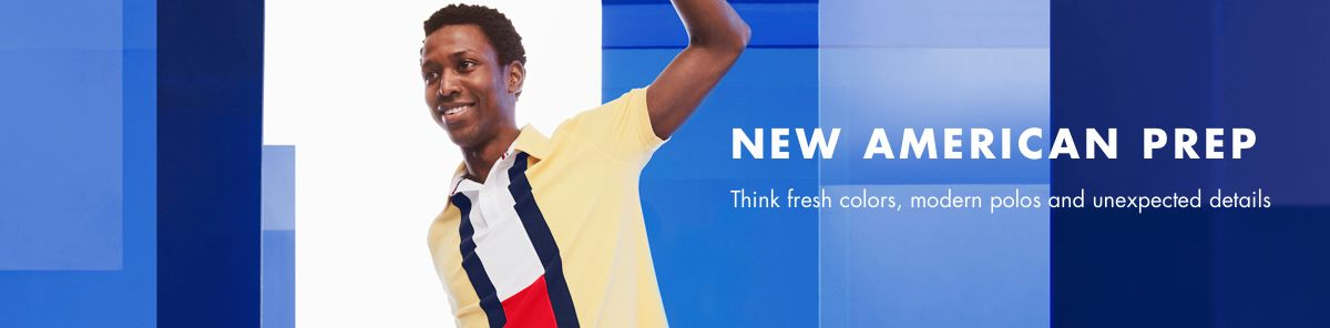 New American Prep, Think fresh colors, modern polos and unexpected details
