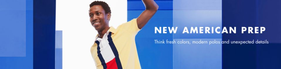d39bc26a8 New American Prep, Think fresh colors, modern polos and unexpected details
