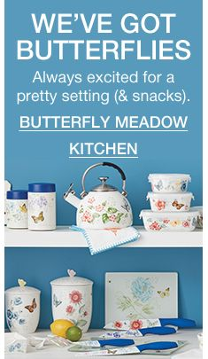 We've Got Butterflies, Always excited for a pretty setting (& snacks), Butterfly Meadow Kitchen
