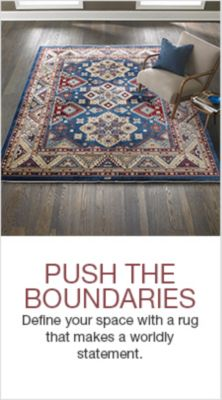 Push The Boundaries, Define your space with a rug that makes a worldly statement