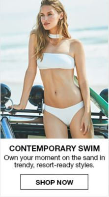 Contemporary Swim, Own your moment on the sand in trendy, resort-ready styles, Shop now