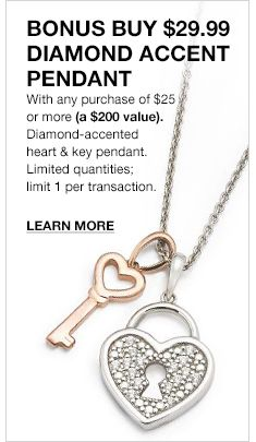 Bonus Buy 2999 Diamond Accent Pendant With Any Purchase Of 25 Or More A 200