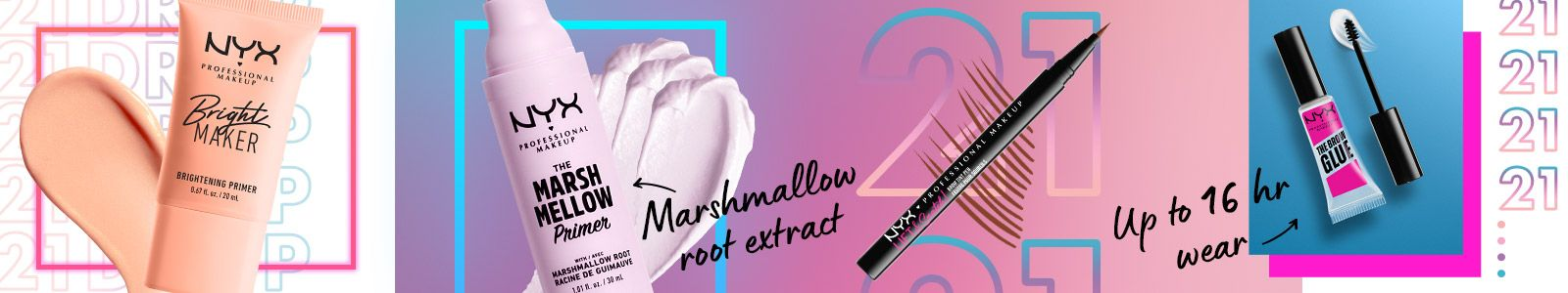 NYX, Marshmallow root extract up to 16 hour wear