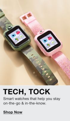 Tech, Tock, Smart watches that help you stay, on-the-go and in-the-know, Shop Now