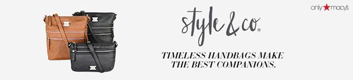 Style and Co, Timeless Handbags Make The Best Companions