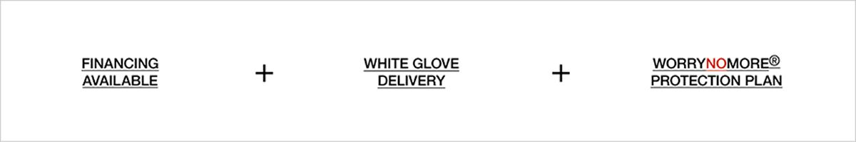 24-Month Financing + White Glove Delivery + WorryNoMore Protection Plan