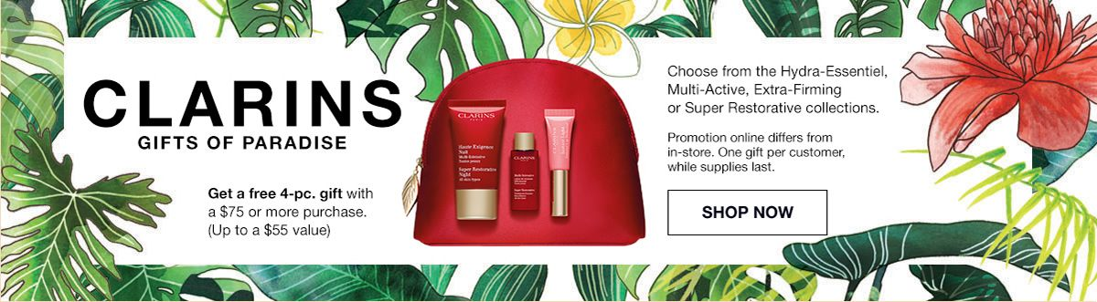 Clarins Gifts of Paradise, Get a free 4-piece, Shop Now