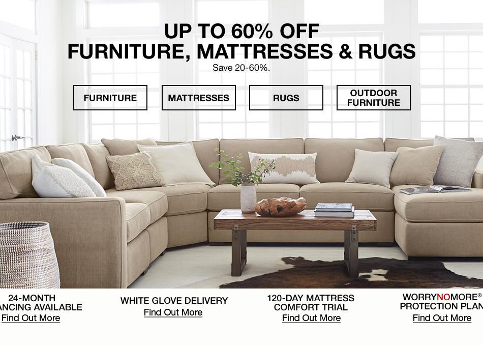 up to 60 percent off furniture mattresses and rugs save 20 60