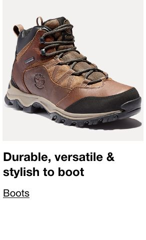 Durable, versatile and stylish to boot, Boots
