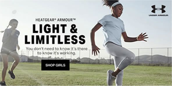 Heatgear Armour Light and Limitless, Shop Girls