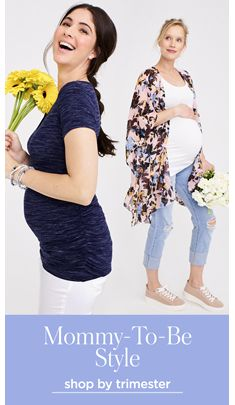 Mommy-to-be Style, shop by trimester