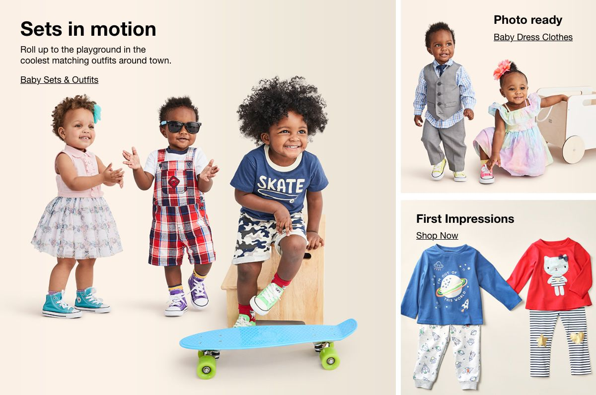 Sets in motion, Baby Sets and Outfits, Photo ready, Baby Dress Clothes, First Impressions, Shop Now74